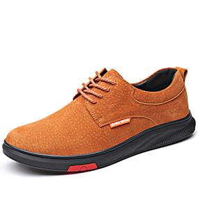 baratos Oxfords Masculinos-Homens Sapatos Confortáveis Couro de Porco Outono & inverno Negócio / Clássico Oxfords Respirável Preto / Marron / Cinzento
