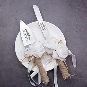 halpa Tarjoilusetit-Hartsi / Ruostumaton teräs Wedding / Birthday 1 Setti / PP pussi Veitset / Lapio / Leivontavälineet