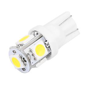 billige Nyankomne i oktober-10pcs T10 Bil Elpærer 2.5 W SMD 5050 5 LED Lisensplatelampe / Arbeidslampe / Baklys Til Universell Alle år