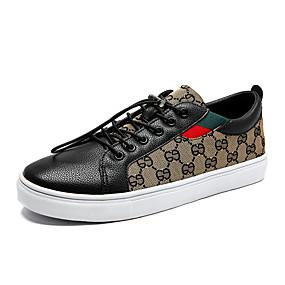 voordelige Damessneakers-Dames Sneakers Platte hak Ronde Teen Canvas Informeel Wandelen Lente & Herfst Zwart / Wit