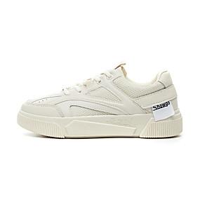 voordelige Damessneakers-Dames Sneakers Lage hak Ronde Teen PU Lente & Herfst Wit / Beige