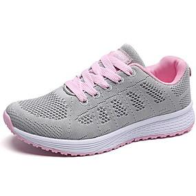 voordelige Damessneakers-Dames Sneakers Platte hak Ronde Teen EVA / Tissage Volant Lente zomer / Herfst winter Zwart / blauw+Roze / Wit