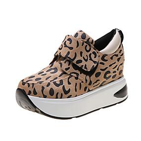 voordelige Damessneakers-Dames Sneakers Verborgen hiel Ronde Teen Dierenprint Satijn Informeel Wandelen Herfst winter Luipaard / Luipaard