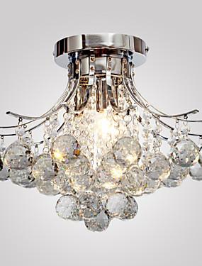 billige Hjem & Hage-Lightinthebox Takplafond Omgivelseslys Krom Metall Krystall, Mini Stil 110-120V / 220-240V Pære ikke Inkludert / E12 / E14