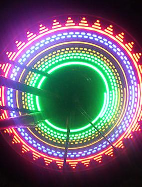 billige Sport og friluftsliv-LED Sykkellykter Blinkende ventillys hjul lys Sykkellyktene Fjellsykling Sykling Vanntett Verneutstyr Bærbar AAA Sykling / IPX-4