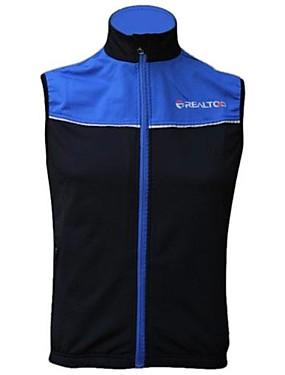 ieftine Sport i aktivnosti na otvorenom-Realtoo Bărbați Pentru femei Fără manșon Vestă Cycling Rosu Albastru Bicicletă Vestă Keep Warm Rezistent la Vânt Căptușeală Din Lână Respirabil Iarnă Sport Fleece Peteci Ciclism montan Ciclism stradal