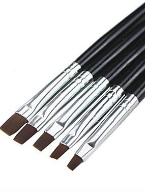 voordelige Nagelborstels-5 stuks Synthetisch haar / Muovi Nail Art Tool Nail acrylborstel Voor Gelkwast Noviteit Nagel kunst Manicure pedicure Klassiek / leuke Style Dagelijks