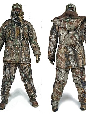 cheap Sports & Outdoors-Hunting Jacket with Pants Men's Waterproof / Thermal / Warm / Shockproof Classic / Fashion / Camouflage Fleece Winter Jacket / Top / Clothing Suit Long Sleeve for Hunting / Fishing