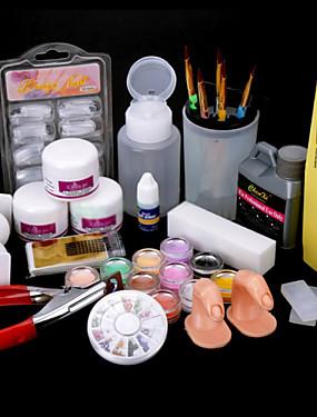 voordelige Nagelborstels-1set Nail Art Kit Nagelsieraden Voor vinger Nagel kunst Manicure pedicure Punk / Kynsien korut