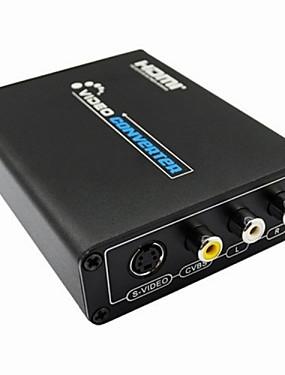 رخيصةأون اكسسوارات الصوت والفيديو-1080p hdmi اثنين من مركب 3rca من s الفيديو rl محول الصوت محول محول hdmi مع الكابلات