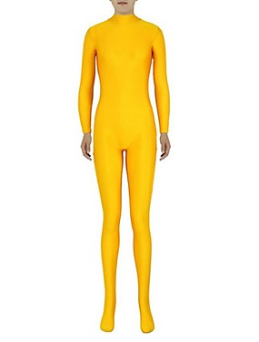 povoljno Igračke i hobiji-Zentai odijela Catsuit Odijelo za kožu Ninja Odrasli Spandex Lycra Cosplay Nošnje Spol Muškarci Žene Bijela Jednobojni Halloween / Visoka elastičnost