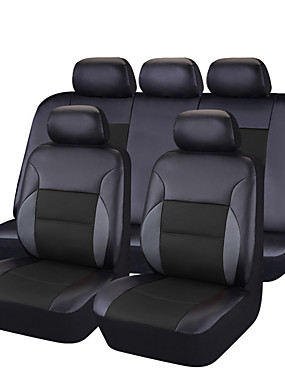 povoljno More-CARPASS Prekrivači za auto-sjedala Presvlake sjedala Blushing Pink / Bež / crni + crna PVC Posao Za Univerzális