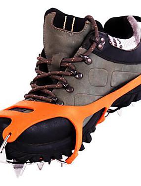 ieftine Sport i aktivnosti na otvorenom-Cleme de Tracțiune  / Pantofi de alpinism / Crampoane alunecare anti- / 18 dinți Teak / Cauciuc pentru Drumeție / Sporturi zăpadă