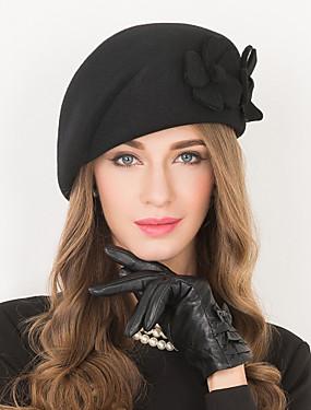 billige Bryllup & Eventer-Ull Kentucky Derby Hat / Hatter med 1 Bryllup / Spesiell Leilighet / Avslappet Hodeplagg