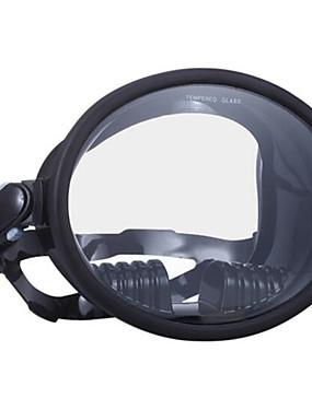 billige Sport og friluftsliv-WAVE Dykkermasker Heldekkende maske Enkelt vindu - Svømming Silikon - Til Voksen Blå / 180 grader / Lekkasjesikker / Anti-Tåke