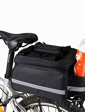 abordables Sports & Loisirs-WEST BIKING® 20 L Sac de Porte-Bagage / Double Sacoche de Vélo Sacs de Porte-Bagage Ajustable Grande Capacité Etanche Sac de Vélo Nylon Sac de Cyclisme Sacoche de Vélo Cyclisme / Vélo