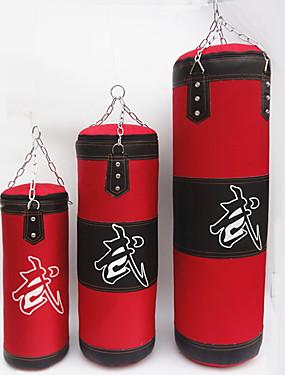 abordables Deportes y Ocio-Saco de boxeo Saco terrero Lienza de Cuero Sin llenar por Boxeo Entrenamiento de gimnasio Muay Thai Sanda MMA Entrenamiento de fuerza 3 pcs Rojo