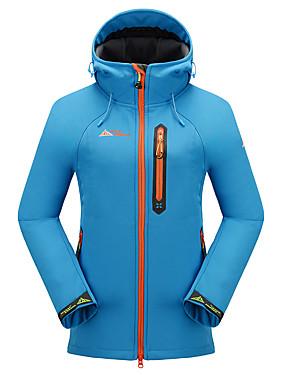 저렴한 스포츠 & 아웃도어-여성용 하이킹 소프트쉘 자켓 하이킹 자켓 집 밖의 방수 보온 방풍 통기성 가을 겨울 양털 소프르쉘 자켓 탑스 캠핑 & 하이킹 수렵 피싱 스카이 블루 그린 바이올렛 L XL XXL - Cikrilan