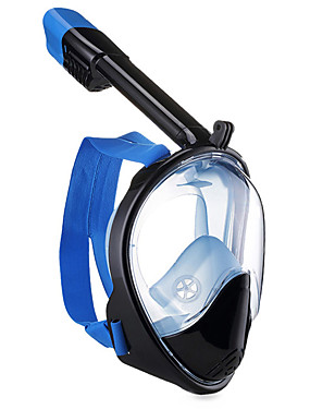 cheap Sports & Outdoors-Diving Mask Snorkel Mask Full Face Mask Underwater 180 Degree View Single Window - Swimming Diving Silicone Fibre Glass - for Adults Red Blue Pink / Anti Fog
