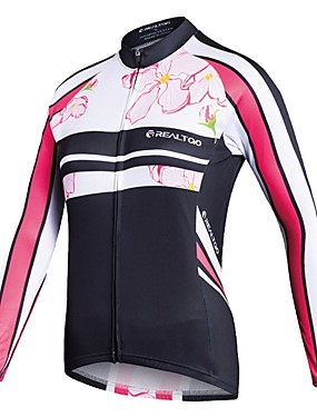 ieftine Sport i aktivnosti na otvorenom-Realtoo Pentru femei Manșon Lung Jerseu Cycling Bicicletă Jerseu Topuri Sport polyster Ciclism montan Ciclism stradal Îmbrăcăminte / Strech