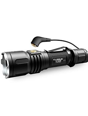 povoljno Sport és outdoor-KLARUS XT12S LED svjetiljke - Cree® emiteri 1600 lm Manualno rasvjeta mode Profesionalna Jednostavno za nošenje Kampiranje / planinarenje / Speleologija Uporaba Biciklizam Crno