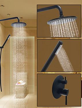 ราคาถูก บ้านและสวน-ก๊อกน้ำฝักบัว - ขอบมน ทองแดงขัดน้ำมัน ระบบฝักบัว Ceramic Valve Bath Shower Mixer Taps / Brass