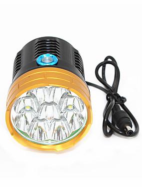 billige Sport og friluftsliv-ANOWL 6268 Led Lys 9000 lm LED Cree® XM-L T6 7 emittere 3 lys tilstand Enkel å bære Sykling Gylden+Svart