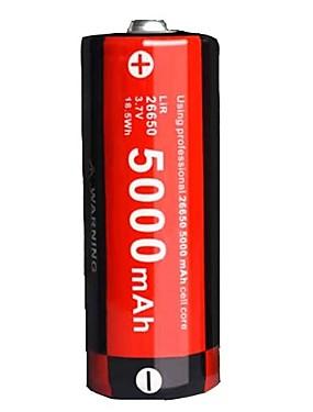 povoljno Sport és outdoor-KLARUS LiR26650 Li-ion 26.650 baterija 5000 mAh 1pc Prijenosno Profesionalna Jednostavno za nošenje za Kampiranje / planinarenje / Speleologija Uporaba Policija / Vojna