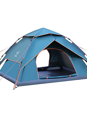 povoljno Sport és outdoor-Sheng yuan 4 osobe Planinarski ruksaci Vanjski Vodootporno Planinarenje Zaštita od sunca Dvaput Slojeviti Automatski Dome šator za kampiranje 2000-3000 mm za Camping & planinarenje Kampiranje
