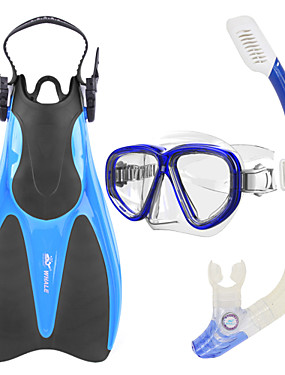 billige Sport og friluftsliv-WHALE Snorkelpakker Dykking Pakker - Dykkermaske Dykkerfinner snorkel - Tørrdrakt - topp Langt blad Svømming Dykking Silikon Glass Gummi  Til Voksen