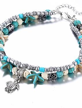 voordelige Kralenarmband-Dames Kralenarmband Schildpad Zeester Waterman Dames Etnisch Hars Armband sieraden Lichtblauw Voor Lahja Dagelijks