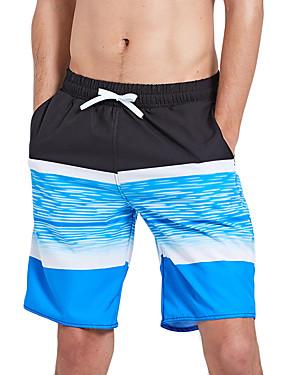 povoljno Sport és outdoor-SBART Muškarci Kupaće hlačice Swim Trunks Spandex Surferske hlače Vodootporno Quick dry Vezica - Surfanje Plaža Vodeni sportovi Reactive Print Ljeto / Rastezljivo