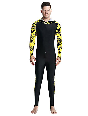 billige Sport og friluftsliv-SBART Herre Tettsittende dykkerdrakt Dykkerdrakter SPF50 UV Solbeskyttelse Pustende Heldekkende Forside Glidelås - Dykking / Fort Tørring
