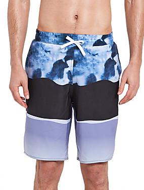 povoljno Sport és outdoor-SBART Muškarci Kupaće hlačice Swim Trunks Spandex Surferske hlače Vodootporno Prozračnost Quick dry Vezica - Surfanje Plaža Vodeni sportovi Reactive Print Ljeto / Rastezljivo