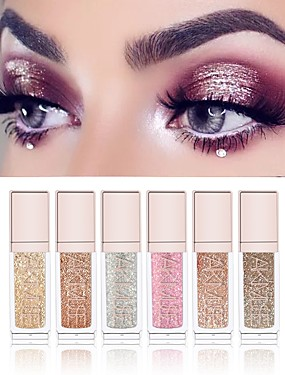 cheap Makeup For Eyes-6 Colors Eyeshadow Liquid Glow Daily Makeup / Halloween Makeup / Party Makeup 1160 Cosmetic / Shimmer