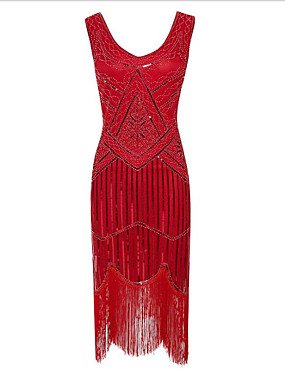 cheap Toys & Hobbies-The Great Gatsby 1920s The Great Gatsby Roaring Twenties Costume Women's Flapper Headband Red / Blue / Golden Vintage Cosplay Polyester Party Prom Sleeveless / Sequins
