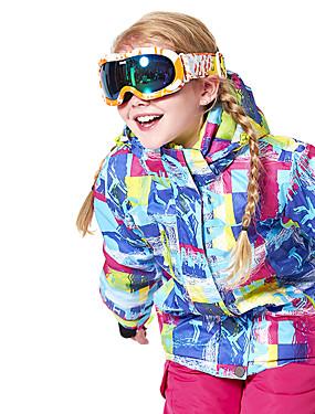 billige Sport og friluftsliv-Wild Snow Gutt Jente Skijakke Vindtett Varm Ventilasjon Ski & Snowboard Multisport Snøsport Polyester Netting Dunjakker Skiklær / Vinter