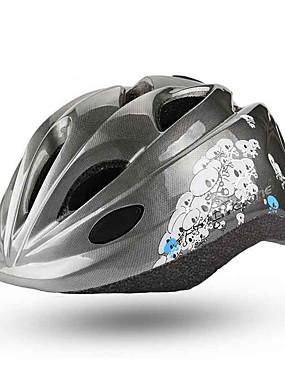 저렴한 스포츠 & 아웃도어-BAT FOX 아동용 자전거 헬멧 15 통풍구 CE 충격 방지 일체식-몰디드 벨루어 EPS PC 스포츠 도로 자전거 산악 자전거 야외운동 - 그레이 남아 여아