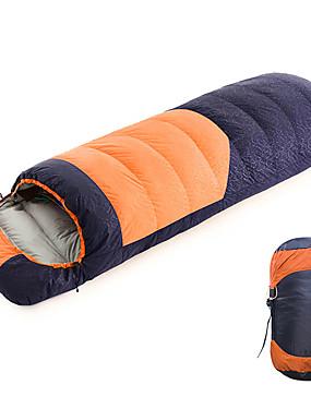 ieftine Sport i aktivnosti na otvorenom-Shamocamel® Sac de dormit În aer liber Sac de Dormit Dreptunghiular 0~30 °C Single Puf de Rață Impermeabil Portabil Respirabil Keep Warm Ultra Ușor (UL) Durabil 210*80 cm Toamnă Iarnă pentru Camping