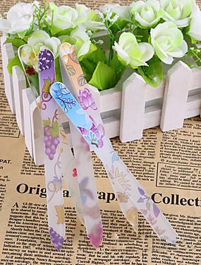 voordelige Nagelvijlen & Buffers-1 set Glas Nail Art Tool Voor Vingernagel Slijtvast / Duurzaam / Licht en comfortabel White Series Nagel kunst Manicure pedicure Eenvoudig Dagelijks