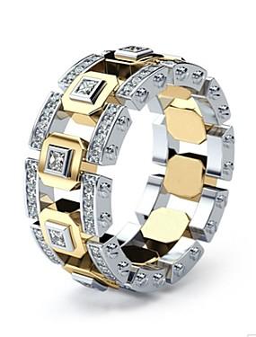billige Herresmykker-Herre Dame Ring Fuskediamant Europeisk Motering Smykker Gull Til Daglig