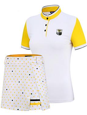 povoljno Sport és outdoor-PGM Žene Sportska odijela Kratkih rukava Tenis Golf Trčanje Athleisure Vanjski Pasti Proljeće Ljeto / Rastezljivo / Quick dry / Ovlaživanje / UV otporan / Prozračnost
