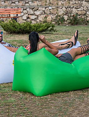 cheap Sports & Outdoors-Air Sofa Inflatable Sofa Sleep lounger Air Bed Outdoor Camping Waterproof Portable Moistureproof Design-Ideal Couch 260*70 cm Oxford Camping / Hiking Beach Traveling for 1 person