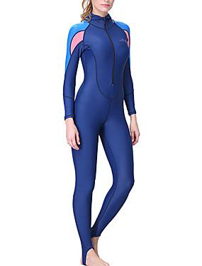 billige Sport og friluftsliv-Dive&Sail Dame Tettsittende dykkerdrakt Dykkerdrakter SPF50 UV Solbeskyttelse Fort Tørring Heldekkende Forside Glidelås - Dykking Snorkling