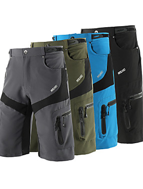 povoljno Sport és outdoor-Arsuxeo Muškarci Kratke hlače za MTB Bicikl Kratke hlače Vrećaste hlače Kratke hlače za MTB Prozračnost Ovlaživanje Quick dry Sportski Jedna barva Poliester Spandex Vojska Green / Plava / Siva Brdski
