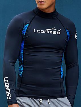 povoljno Sport és outdoor-LCDRMSY Muškarci UV zaštitu od sunca Quick dry Dugih rukava Plivanje Ronjenje Surfanje Bojano Ljeto / Mikroelastično