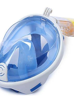 povoljno Sport és outdoor-Ronjenje Maske Maske za cijelo lice Jedan prozor - Plivanje Silikon - Za Odrasli Zelen / 180 stupnjeva / Anti-Magla / Sprječava ulazak vode