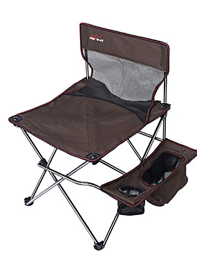 cheap Sports & Outdoors-Camping Chair with Cup Holder with Side Pocket Portable Anti-Slip Foldable Comfortable Steel Tube Oxford for 1 person Camping Camping / Hiking / Caving Traveling Picnic Autumn / Fall Spring Coffee