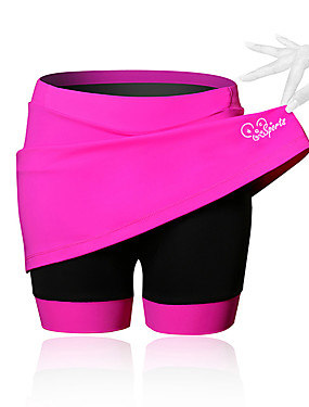 cheap Sports & Outdoors-21Grams Women's Cycling Skirt Bike Shorts / Skirt / Padded Shorts / Chamois Breathable, 3D Pad Solid Colored, Patchwork, Classic Spandex Black / Blue / Pink Advanced Mountain Cycling Semi-Form Fit
