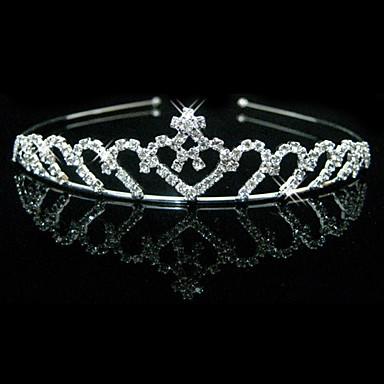 smukke klare krystaller bryllup tiara